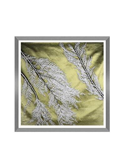 Aviva Stanoff Cedar Hand-Pressed on Army Green And Mineral Velvet Artwork