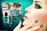 Nails inc London Bling it on Emerald Glitter Polish Beauty Kit Women Make up Set