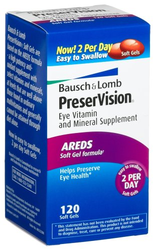 Christmas Bausch & Lomb PreserVision Eye Vitamin & Mineral Supplement, 120-Count Soft Gels Deals
