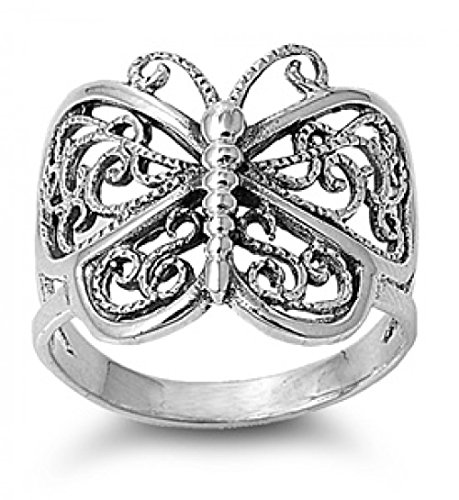 Sterling Silver Ring - Butterfly