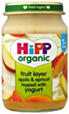 HiPP Organic Stage 2 From 7 Months Fruit Duet Apple and Apricot with Yogurt 6 x 160 g (Pack of 2, Total 12 Pots)