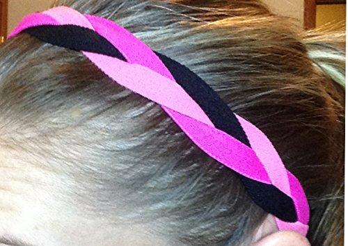 It's Ridic! No Slip Grip /Non-Slip Sports / Athletic Nylon Triple Braided Sports Headband (New York Rangers Girls Pink compare prices)