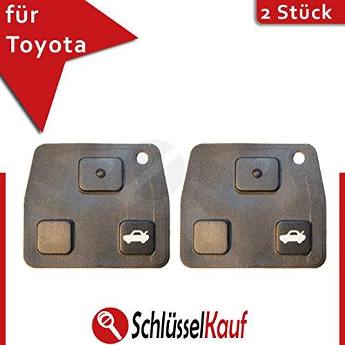 lot-de-2-toyota-3-touches-clavier-cle-bouton-voiture-de-rechange-lexus-en-caoutchouc-neuf