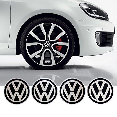 4 x 55mm Diametro VW Volkswagen centro di rotella di Cap Emblem Sticker autoadesivo Per Piso Superfici prezzo poco costoso