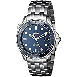 Omega Seamaster Blue Dial Automatic Stainless Steel Mens Watch