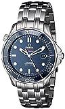 Omega Mens O21230412003001 Seamaster Analog Display Automatic Self Wind Silver Watch