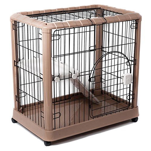 Favorite 2-Tier Luxury Cat Metal Crate Cage, 2 Doors, 34″ by 22″ by 34″