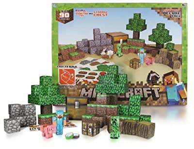 Overworld Deluxe Pack Minecraft Papercraft Kit Series by Jazwares
