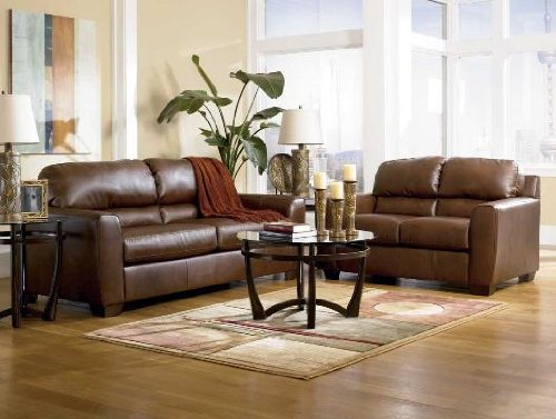 Buy Low Price AtHomeMart Bark Sofa, Loveseat, Chair, and Ottoman Set (ASLY9420238_9420235_9420220_ 9420214_4PC)