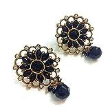 Divinique Jewelry Black stylish earrings