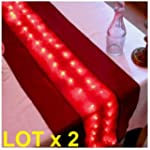 LOTX2 Chemin de Table Lumineux 50 led...