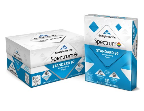 GP Spectrum® Standard 92 Multipurpose Paper, 8.5 x 11 Inches, 3-Ream (1500 Sheets) (998606)