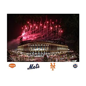 Mlb new york mets citi field fireworks mural for Dodger stadium wall mural