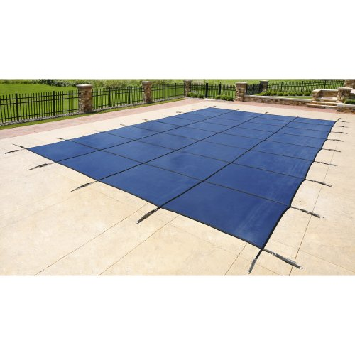 Blue Wave 18-ft x 36-ft Rectangular In Ground Pool Safety Cover - Blue (Pool Covers Inground 18 X 36 compare prices)