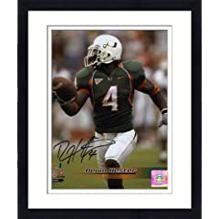 Framed Devin Hester Miami Hurricanes Autographed 8