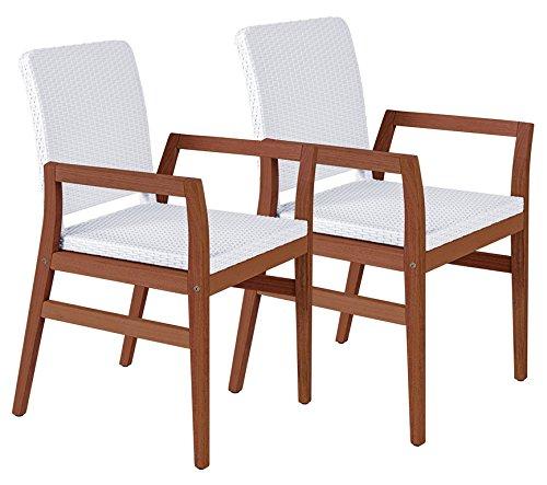 Tramontina 13831/302 2 Stück Gartenstuhl Boston Armchair aus Jatoba FSC Edelholz