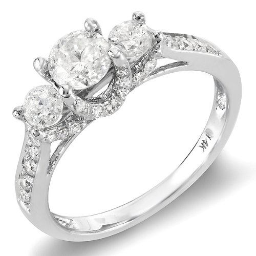 1.00 Carat (ctw) 14k White Gold Round Diamond