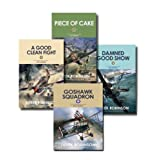 img - for RAF Royal Air Force Derek Robinson 4 Books Set Collection (Piece of Cake, A Good Clean Fight, Damned Good Show, Goshawk Squardon) book / textbook / text book