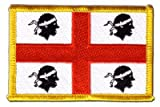 Italy Sardinia Flag embroidered Iron-On Patch