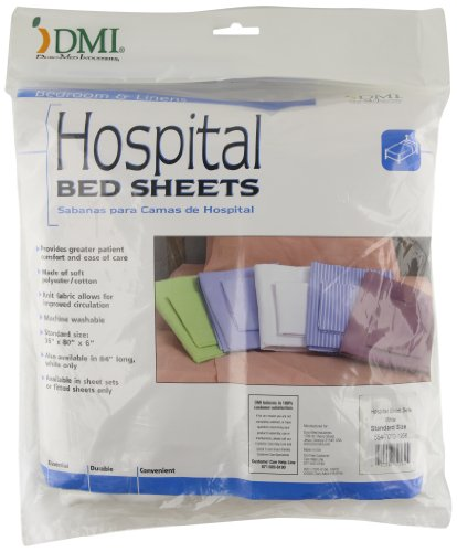Mabis Dmi Healthcare Hospital Bedding Sheet Sets, White, One front-501240