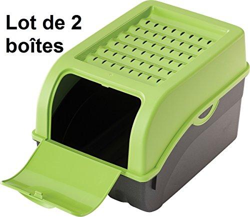 2 x Boîte de conservation pour Pommes de terre, Légumes, Fruits, Oignons, Boîte de rangement en plastique, Volume de 7,7 litres (Lot de 2 boîtes)