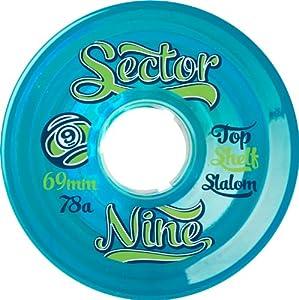 Buy Sector 9 Top Self Nine Balls Skateboard Wheel, Blue, 69mm 78A by Sector 9