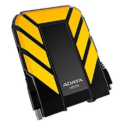 ADATA USA Dash Drive 2TB HD710 Military-Spec USB 3.0 External Hard Drive, Yellow (AHD710-2TU3-CYL)