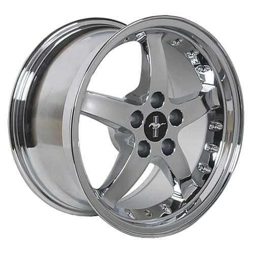 Ford Mustang Cobra R Style Wheel Chrome Wheels Rims 1994 1995 1996 1997 1998 1999 2000 2001 2002 2003 2004 2005 2006 94 95 96 97 98 99 00 01 02 03 04 05 06