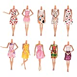 Toy - JETTINGBUY 10 Pcs Fantasy Clothes for Barbie Doll