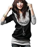 Longue chemise 5 couleurs de dames veste pull Sweat à capuche Veste à capuche Tunique shirt 2312