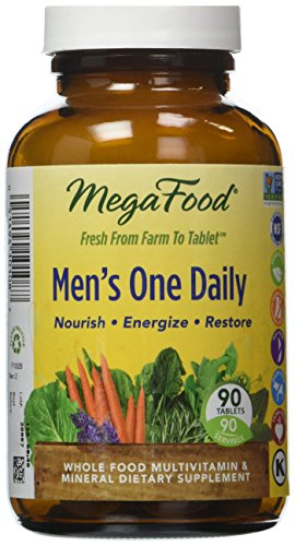 MegaFood - Men's One Daily, Supports Energy Levels & a Healthy Stress Response, 90 Tablets