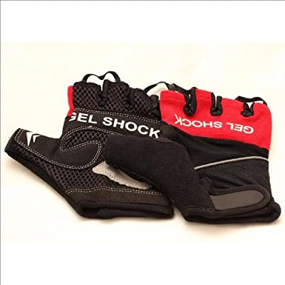 Gel Shock Amara Gym / Cycling / Weight Lifting Training Gloves Black/red from SF