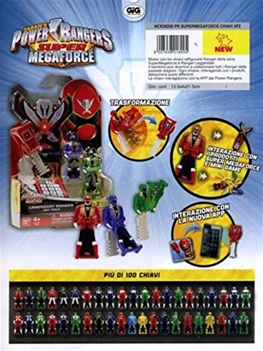 POWER RANGERS SUPER MEGA FORCE BLISTER 3 CHIAVETTE ASSORTITE NCR38250