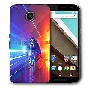 Snoogg Speed Car Designer Protective Phone Back Case Cover For Motorola Nexus 6