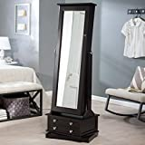 Belham Living Swivel Cheval Jewelry Armoire in a Espresso Finish