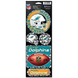 NFL Miami Dolphins Prismatic Decal, 4″ x 11″