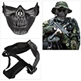 Skull Skeleton Airsoft Paintball Half Face Protect Mask