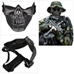 Skull Skeleton Airsoft Paintball Half...
