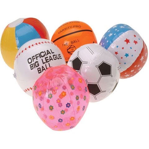 Mini Beach Ball Assortment Inflates