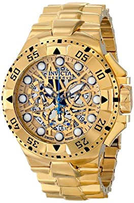Invicta Men's 15980 Excursion Analog Display Swiss Quartz Gold Watch