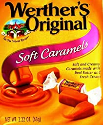 Werthers Original New Soft Caramels 2.22 Oz (63g) (Pack of 12)