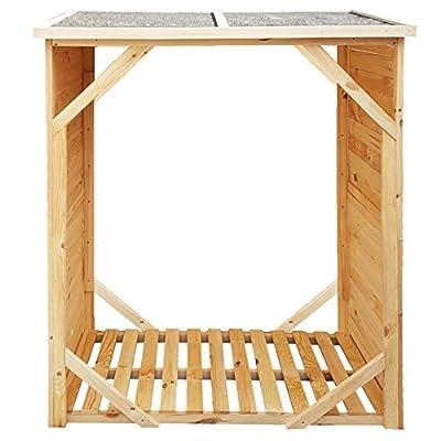 proheim Kaminholz-Regal XXL 162x128x72cm Brennholz-Regal mit 1,15m³ Volumen Kaminholz-Unterstand Bitumen beschichtetes Dach und 100% FSC Holz von PROHEIM - Gartenmöbel von Du und Dein Garten