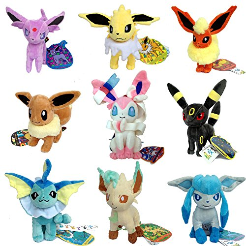 9 PCS Eeveelution Pokemon