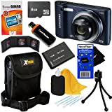 """Samsung WB30F 16.2MP Smart Wi-Fi Digital Camera with 10x Optical Zoom and 3.0"""" LCD Screen (Black) + BP-70A Battery... by HeroFiber"""