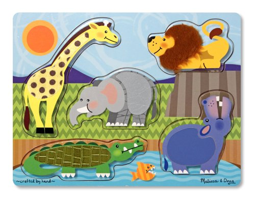 Melissa & Doug Zoo Animals Touch and Feel Puzzle