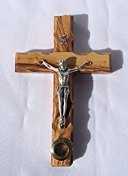 14 Stations Wall Wood Cross Crucifix with Jerusalem Soil 5.5\
