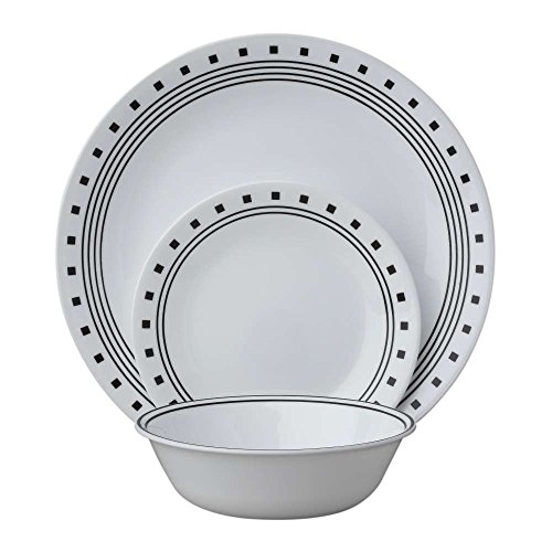 Corelle Livingware 12 Piece Set City Block Pattern (Corelle Small compare prices)