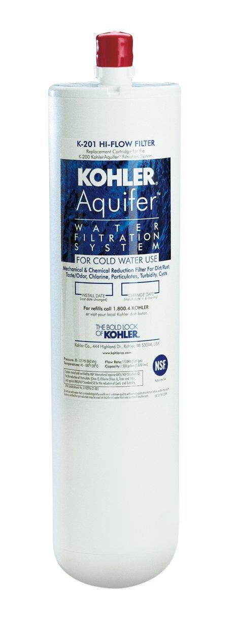 Amazon.com: KOHLER K-201-NA Aquifer High-Flow Refill Filter ...
