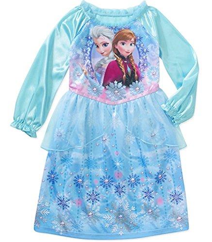 Disney Frozen Baby Girls' Anna and Elsa Long Sleeve Nightgown FZ011GLVPWM 4T (Disney Frozen Gowns)