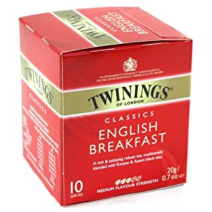 Twinings English Breakfast Classic Tea 10 Count, Pack of 12